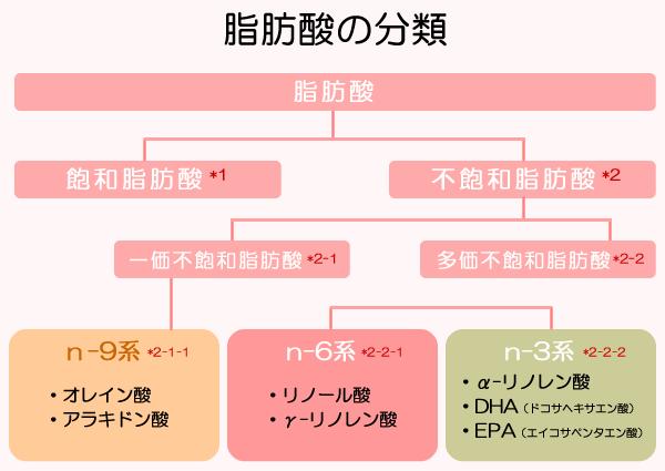 脂肪酸の分類